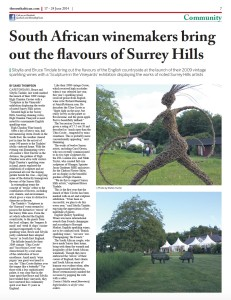 South African winemakers bring out the flavours of Surrey Hills