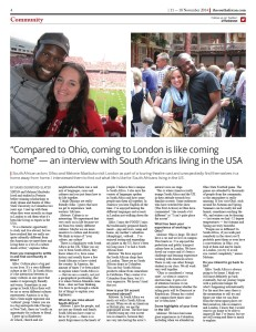 Interview with South African expats living in the USA