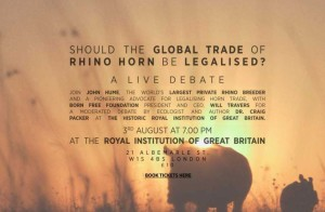 rhino horn debate